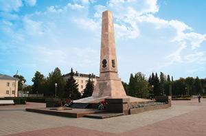 Обелиск славы на площади Свободы